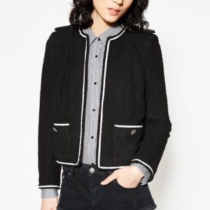 Black & White The Kooples Military Blazer Sz 38